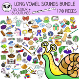 Long Vowel Sounds Clip Art MEGA Bundle