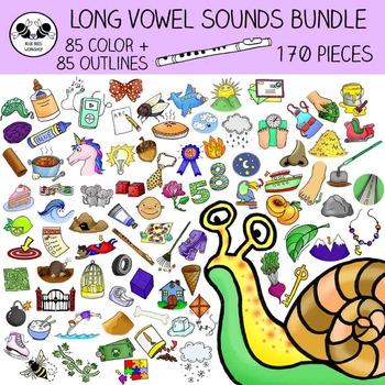 Long Vowel Sounds Clip Art MEGA Bundle