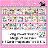 Long Vowels Clip Art Mega Value Pack - Phonics Clipart Set