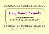 Long Vowel Sounds Word Set - Grades 3 - 6 or Special Educa