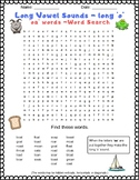 Long Vowel Sounds - Long 'o' Word Search Puzzle with 'oa'