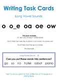 Long Vowel Sounds O – Writing Task Cards