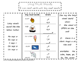 Long Vowel Sounds Phonics Foldable for Interactive Notebook