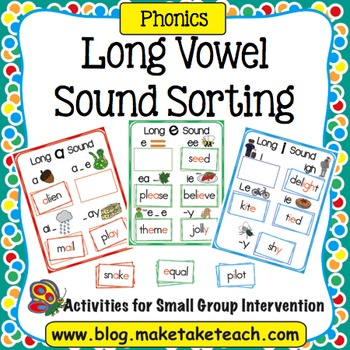 Long Vowel Sounds Sorting Activity