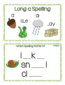 Long Vowel Sounds Spelling Patterns Write It