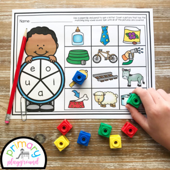 Long Vowel Sounds Spin and Cover