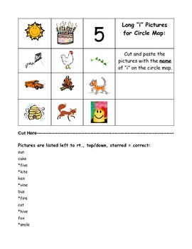 Long Vowel Sounds Thinking Map Activities -  Phonics