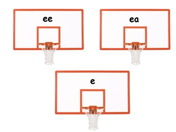 Long Vowel Sounds Word Match: Basketball Theme