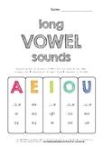 Long Vowel Sounds Worksheets