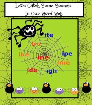 Long Vowel Sounds of I - Spider Theme