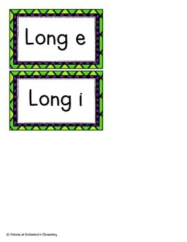 Long Vowel Sounds of Y Sort