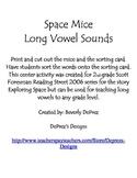 Long Vowel Space Mice Sort Reading Street Grade 2 Exploring Space