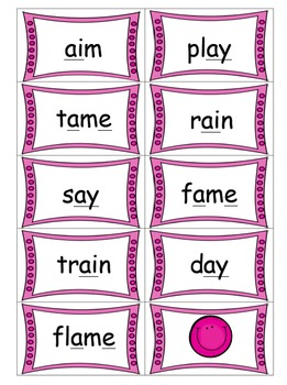 Long Vowel Spelling Card Game