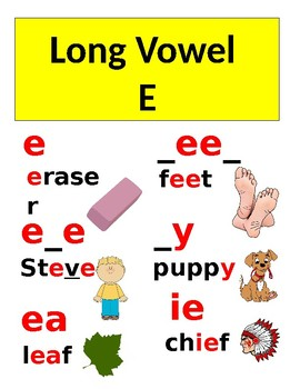 Long Vowel Spelling Cards