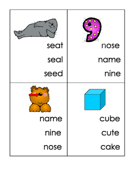 Long Vowel Spelling Clips