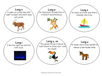 Long Vowel Spelling Frequency Poems