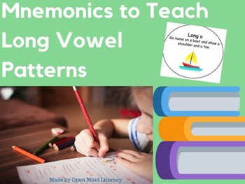 """Mnemonics for Long Vowel Spelling Patterns: """"He feeds meat to baby Pete..."""""""