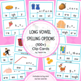 Long Vowel Spelling Options Clip Cards