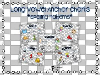 Long Vowel Spelling Patterns Anchor Charts