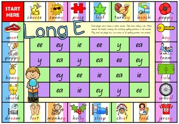 Long Vowel Spelling Patterns - Board Games Packet