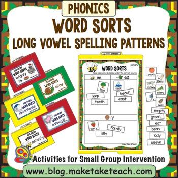 Long Vowel Spelling Patterns Word Sorts