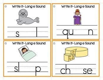 Long Vowel Spelling Patterns Write-It Bundle