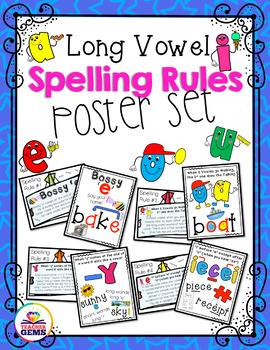 Long Vowels Spelling Rules Poster Set