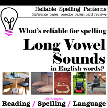 Long Vowel Reliable Spellngs Syllable Practice Reference Pages Bonus Flash Cards