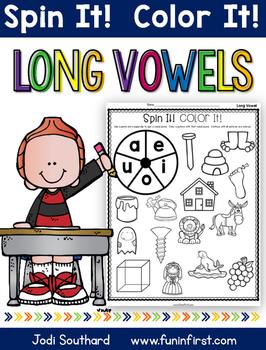 Long Vowel Spin It Color It