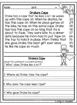 Long Vowel Stories and Test