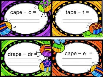 Long Vowel Subtraction Cards