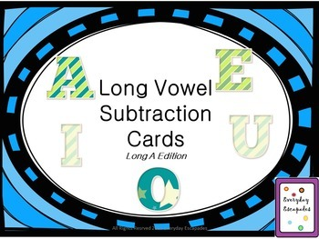 Long Vowel Subtraction Cards