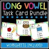 Long Vowel Task Card Bundle (5 Different Sets - Long a, e, i, o, u)