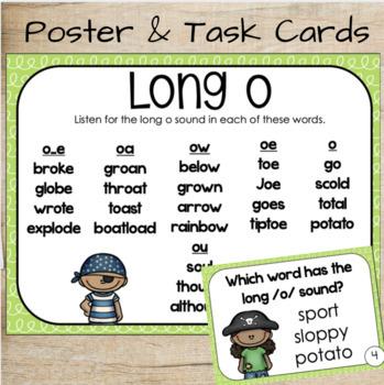 Phonics for Older Students - Long Vowel Task Cards