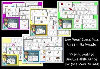 Long Vowel Task Cards. 96 task cards!
