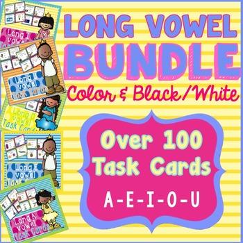 Long Vowel Task Cards - BUNDLE!