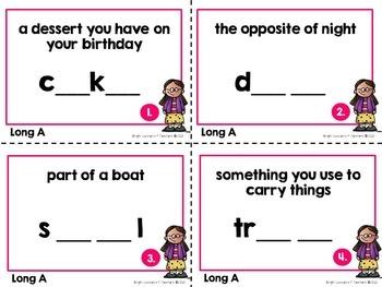 Long Vowel Task Cards: Long A