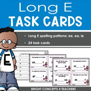 Long Vowel Task Cards: Long E