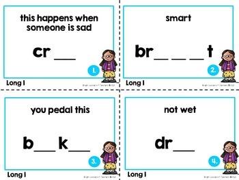 Long Vowel Task Cards: Long I