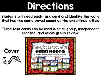 Magic E Task Cards (Multiple Choice)