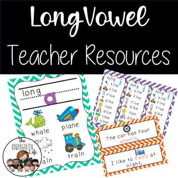 Long Vowel Teacher Resources and Centers Unit