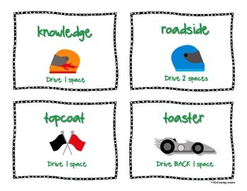 Long Vowel Team OA and OW Differentiated Small Group Game-Stay on the Road!