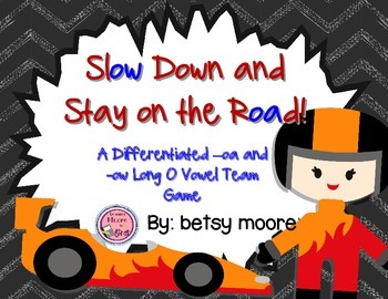Long Vowel Team OA and OW Differentiated Small Group Game-