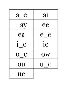 Long Vowel Team Tic-Tac-Toe