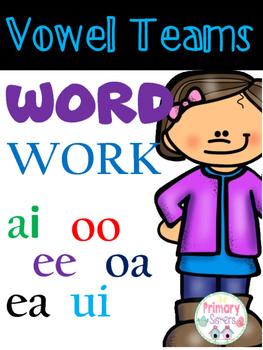 Printable Vowel Team Activities