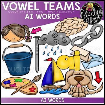 Long A Vowel Team 'ai' - Clip Art Bundle {Educlips Clipart}