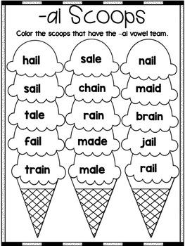 Long Vowel Team -ai Word Work!