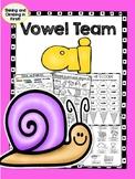 ai Vowel Team - Long a sound - Word Work - No Prep!