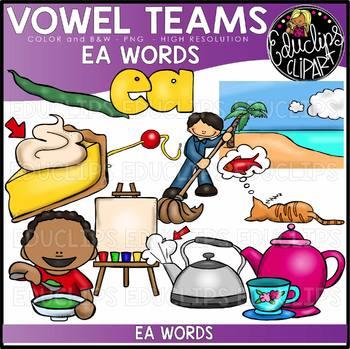 Long E Vowel Team - 'ea' - Clip Art Bundle {Educlips Clipart}