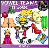 Long E Vowel Team - 'ee' - Clip Art Bundle {Educlips Clipart}